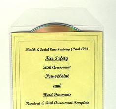 Fire Risk Assessment teaching, training resources for all health and social care settings. Also for trainers, training agencies and for full and part-time courses including QCF Diploma. Fire Risk Assessment, Fire Safety, Teacher Resources, Trainers, Management, Teaching, Health, Ebay, Reading