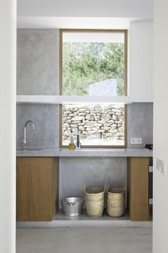 Simple materials - concrete feature. can manuel d'en corda | home in formentera, spain (photo by marià castelló martínez)