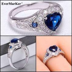 EverMarker Beautiful heart shape CZ 925 Sterling Silver Ring ,Like It?.....