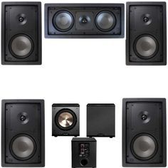 """Klipsch R-2650-W In Wall #2 5.1 Home Theater System-FREE PL-200 by Klipsch. $1095.00. New and Improved Klipsch R-2650-WII UPDATED WITH A NEW LOW-PROFILE DESIGN The Klipsch R-2650-W II maintains the core technology use of a high-quality 1"""" Silk Dome tweeter combined with a 6.5"""" Polypropylene woofer in a 2-way design.  Now with a new low-profile, more elegant grill it continues as an excellent choice for everything from whole house audio to surround sound use.    By upholding the ..."""