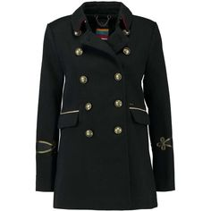 Superdry ISLA SHORT MILITARY Short coat (€160) ❤ liked on Polyvore featuring outerwear, coats, military coats, short coat, military inspired coat, superdry and military style coat