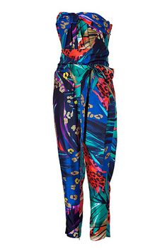 STYLEBOP.com   MulticolorBeltedSilkJumpsuitbySALVATOREFERRAGAMO   the latest trends from the capitals of the world