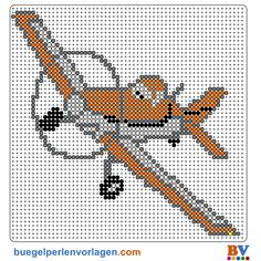 Planes Dusty Crophopper Bügelperlen Vorlage - perler bead pattern