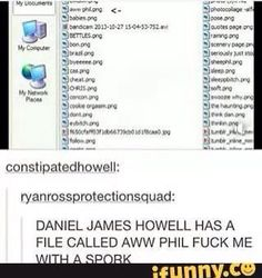 and a file called sheephil.<< I thought that post was saying that dan had a file called 'aww phil fuck me with a sport' Daniel James Howell, Dan Howell, Steven Universe, Phan Is Real, British Youtubers, Dan And Phill, Phil 3, Danisnotonfire And Amazingphil, Tyler Oakley