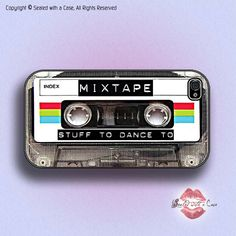 Retro Mix Tape Cassette  - iPhone 4 Case, iPhone 4s Case and iPhone 5/5S/5C and now iPhone 6 cases!! And Samsung Galaxy S3/S4/S5/S6 by SealedWithaCase on Etsy https://www.etsy.com/listing/121267038/retro-mix-tape-cassette-iphone-4-case
