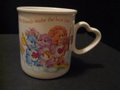 Care Bear Cousins Best Friends Heart Coffee Mug American Greetings Stoneware