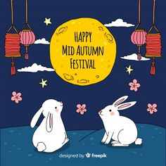 Happy Mid Autumn Festival, Festival Background, Kids Poster, Backgrounds Free, Ulzzang Boy, Chinese New Year, Vector Free, How To Draw Hands, Illustration