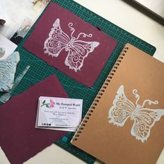 Butterfly rubber stamp designed by My Stamped World