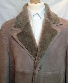 6780c93372e Mens Vintage Sheepskin Coat Tanns of Taunton - Sz 46 Sheepskin Coat