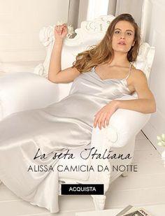 Alissa Camicia da notte lunga in seta
