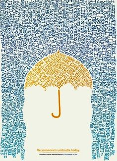 """Be someone's umbrella today"" quote via www.Facebook.com/CareerBliss"