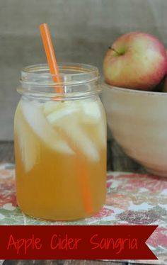 """Are you looking for a tasty fall cocktail to sip on by the bonfire? Or maybe you're just looking for something a little more """"adult' to do with all those extra apples you just picked? Then this A..."""