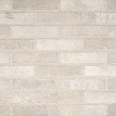 "Kitchen Backsplash   Capella Brick Porcelain Tile 2.3"" x 10"" - Ivory"