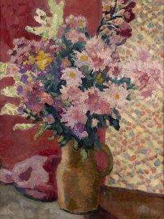 Louis Valtat - A Flowerpiece in a vase, oil on canvas