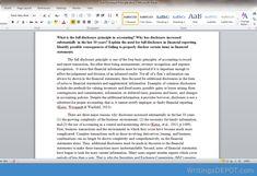 full disclosure principle accounting essay