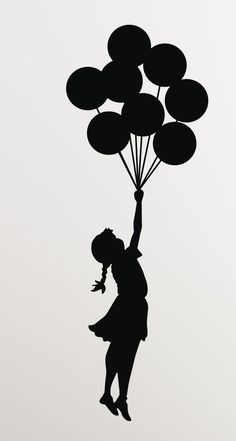 Mothers Day Drawings Discover Banksy Girl Balloons Vinyl Wall Decal/Sticker - Decor for laptop car wall window mirror etc. Art Drawings Sketches, Easy Drawings, Wall Decal Sticker, Vinyl Decals, Wall Stickers, Wall Vinyl, Car Decals, Banksy Girl, Arte Banksy