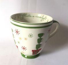 Starbucks Mug Holiday 2006 Delight Dazzle Glisten Red Green Large Coffee Cup  #StarbucksCoffee #DelightDazzleGlisten
