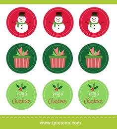 FREE Christmas Sticker and Cupcake Topper Printable | Free Blogger Template, Blogger Widgets,Vector, Icon, Design Resources,Design Inspiration