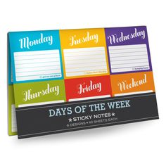Knock Knock Days of the Week Sticky Notes Packet | Free Ship $35+