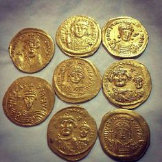 Shop unique and authentic collectible coins including gold coins, silver coins, proof sets, US mint sets, and more. Rare Coins Worth Money, Valuable Coins, Byzantine Jewelry, Byzantine Art, Ancient Roman Coins, All Currency, Tibetan Art, Gold And Silver Coins, Coin Worth