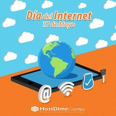 Para todos los cibernautas: ¡Feliz #DíaDelInternet! 💻🌎 #HostDime #Tecnología