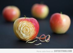 Apple Rose - Someone has too much time! I kind of want to try it!