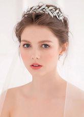 Tiara de strass flor coroa Headpieces casamento nupcial de prata (15 Cm X 8 Cm X…