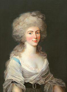 Augusta Wilhelmine of Hesse-Darmstadt, Duchess of Zweibrücken byJohann Heinrich Schröder, 1790