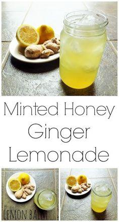 Minted Honey Ginger Lemonade http://macthelm.blogspot.com/ Refreshing ...