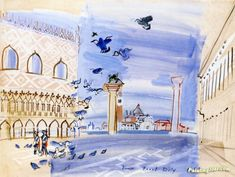 Saint Mark's Place in Venice Artwork by Raoul Dufy Hand-painted and Art Prints on canvas for sale,you can custom the size and frame