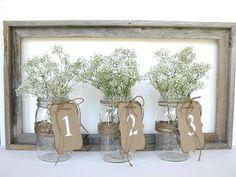 Wedding Decor - white wedding table numbers - 1 - 10 -  pick other colors - wedding ceremony - vintage wedding
