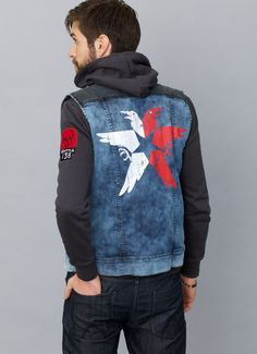 CONDUIT denim jacket - Inspired by inFAMOUS  Second Son (2014) Jaqueta 47678d49027