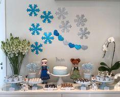 Frozen Birthday Theme, Frozen Theme Party, 6th Birthday Cakes, 2nd Birthday Parties, Princess Theme Birthday, Anna Frozen, Bolo Frozen, Party Activities, Birthday Decorations