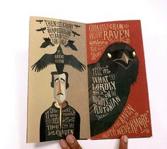 "Edgar Allan Poe's ""The Raven"" - Accordion Book on Wacom Gallery"