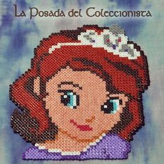 Princess Sofia the First hama perler beads by laposadadelcoleccionista - Pattern: http://www.pinterest.com/pin/374291419004202259/