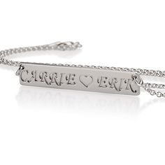 Personalized Bar Necklace  Sterling Silver by BestMonogramNecklace, $35.99