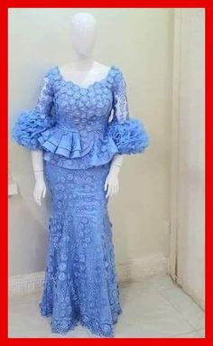 skirt and blouse styles Nigerian Lace Dress, Nigerian Lace Styles, African Lace Styles, African Print Dress Designs, African Print Dresses, African Print Fashion, Latest African Fashion Dresses, African Dresses For Women, African Attire