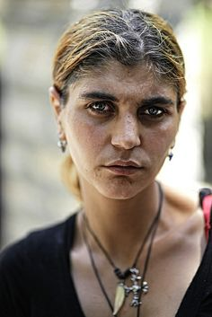 Roma/Romani woman from Messolongi, Greece