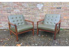 Mid Century Teak Lounge Chair Danish Magnus Olsen Style   photo 2