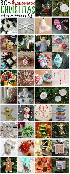 Occasionally Crafty: Handmade Christmas Ornaments + Blog Hop! #bloggerstrimatree