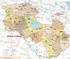 Orientační mapka Arménie