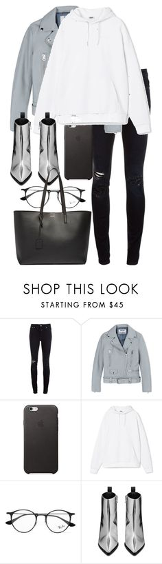 """Untitled #2969"" by elenaday ❤ liked on Polyvore featuring Closed, Acne Studios, Ray-Ban and Yves Saint Laurent"
