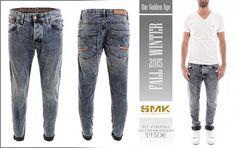SMK DENIM&Co.: SMK DENIM&Co. | CALÇA 1991 SMK WAR BLACK | 59.50€