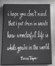 How wonderful life is while you're in the by livingstonandporter, $38.00