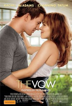 The Vow. Such a great romance movie. A great love story with many twists and kept you wondering whats gonna happen. But the ending seemed like Disney wrote it.