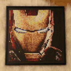 Iron Man perler beads by  nessiesbeads