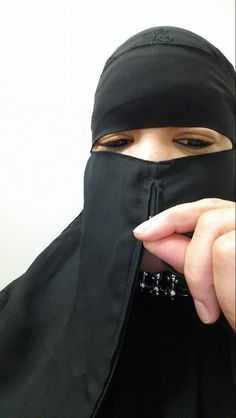 The first niqab with a hidden zipper for the option of easier eating & drinking.  info@ZipNiqab.com