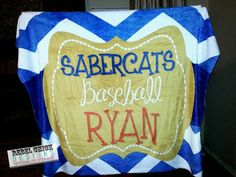 Personalized Sports Team Baseball Blanket by RebelChickBoutique, $55.00