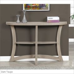 Monarch Specialties Inc Two-Tiered Hall Console Table