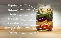 So gelingt der perfekte Salat im Glas.